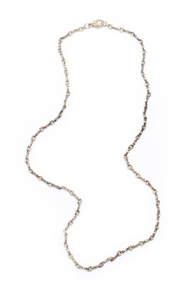 Yellow Gold & Sterling Silver Confetti Necklace