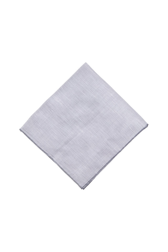 Gray Linen & Cotton Pocket Square