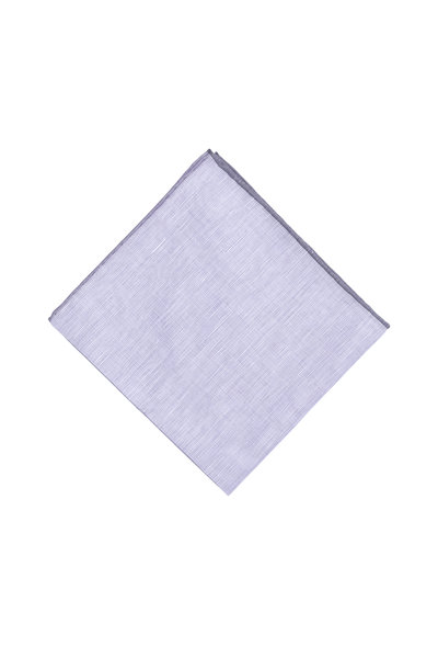 Simonnot-Godard - Purple & Gray Linen Blend Pocket Square