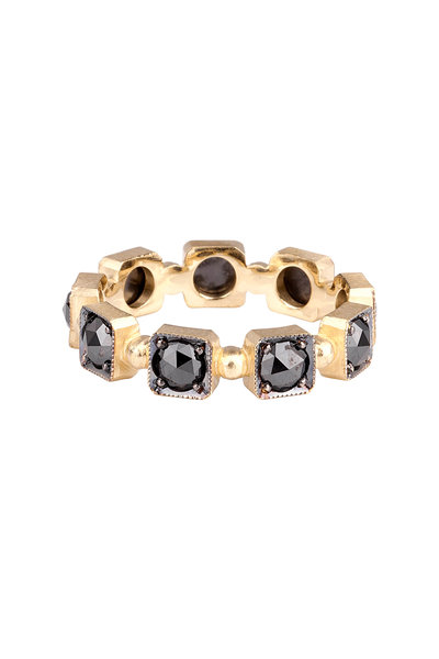 Sylva & Cie - 18K Yellow Gold Black Diamond Band