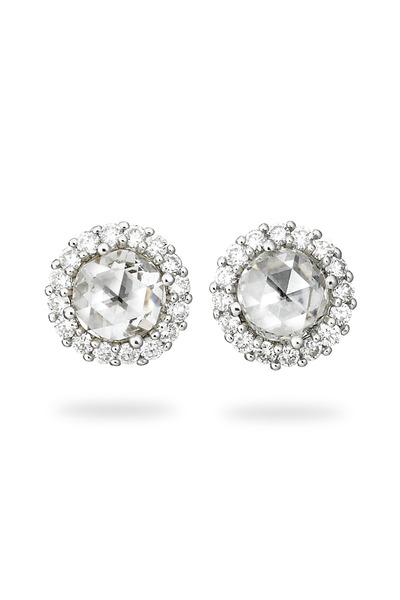 Paul Morelli - White Gold Rose-Cut White Diamond Stud Earrings