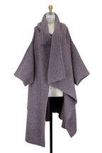 Stella McCartney - Amethyst Mohair & Wool Blend Cape Coat