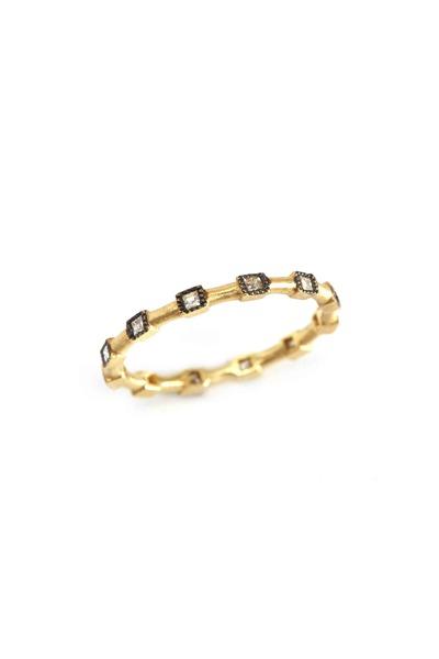 Sylva & Cie - 18K Yellow Gold Diamond Stackable Band