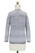 Agnona - Speckled Gray Cashmere & Silk Cardigan Twin Set