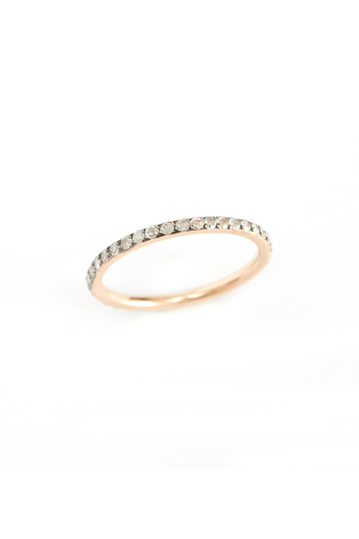 Sylva & Cie - Rose Gold Diamond Stackable Ring