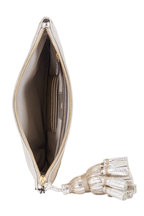Anya Hindmarch - Georgiana Gold Metallic Leather Tassel Clutch
