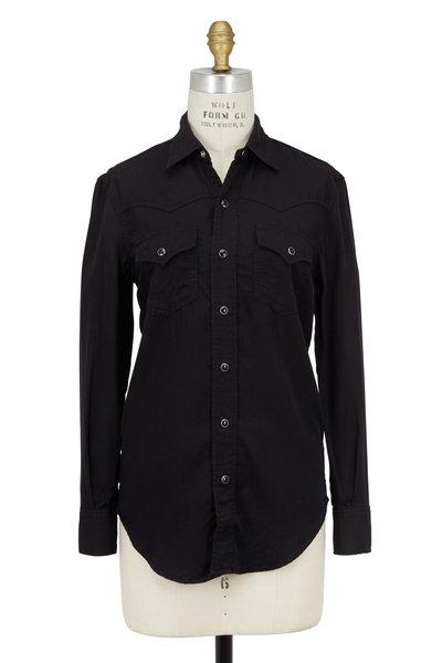 Saint Laurent - Black Western Shirt