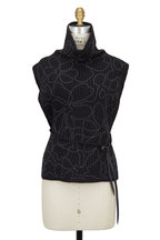 Brunello Cucinelli - Onyx English Ribbed Cashmere Monili Belted Vest