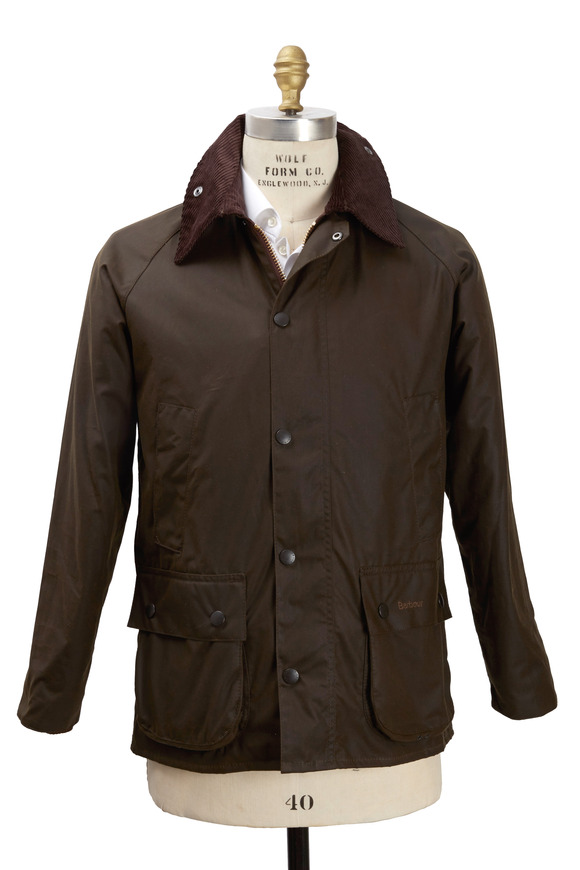 Barbour Bedale Olive Green Wax Jacket