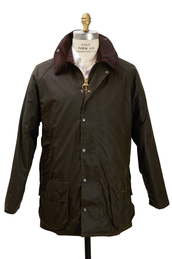 Barbour Beaufort Olive Green Wax Jacket