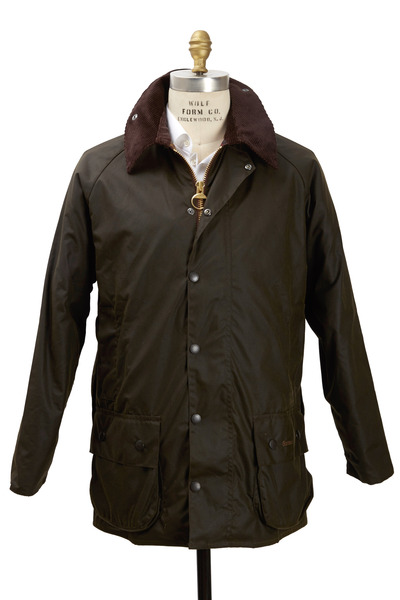 Barbour - Beaufort Olive Green Wax Jacket