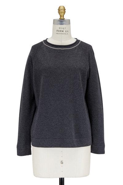 Brunello Cucinelli - Volcano Cashmere Monili Trim Sweater