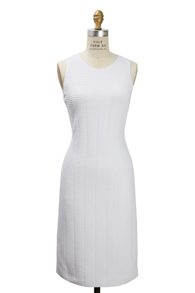 White Ottoman North South Crewneck Knit Dress