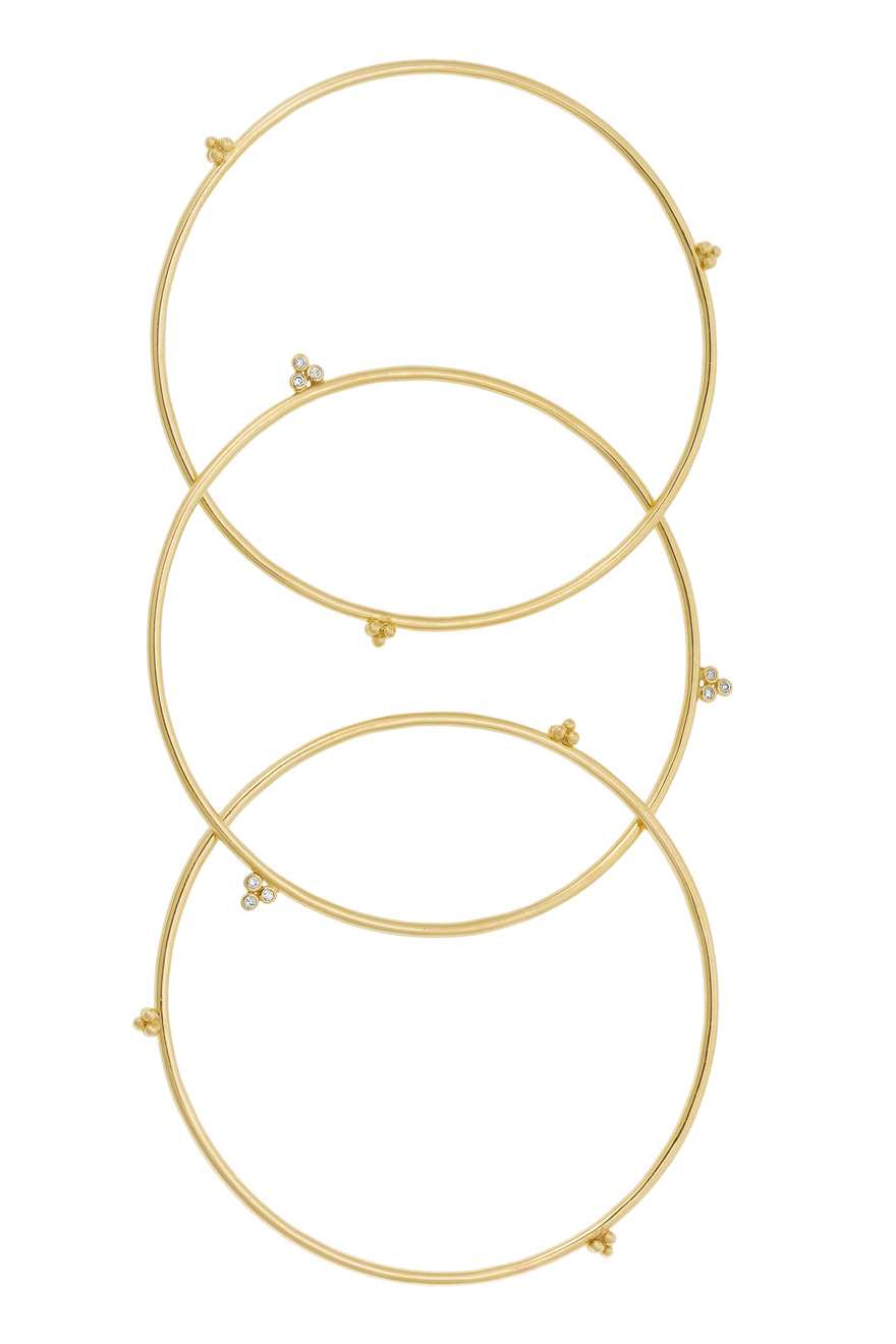 Gold Olympian Bangle Set