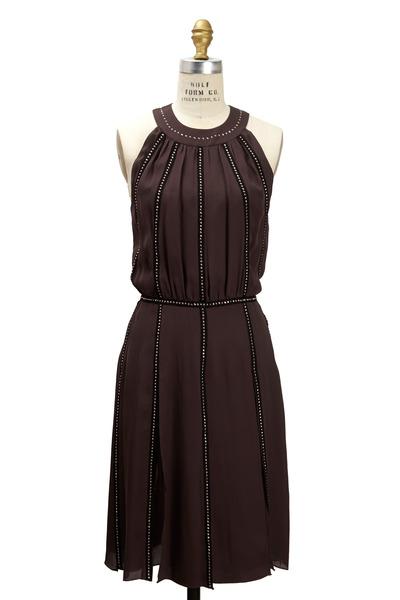 L'Agence - Granite Georgette Dress