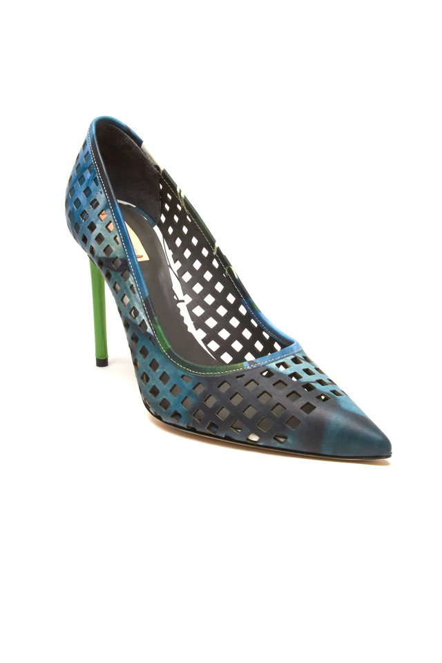 Bionic Academy Floral Print Perforated Pumps