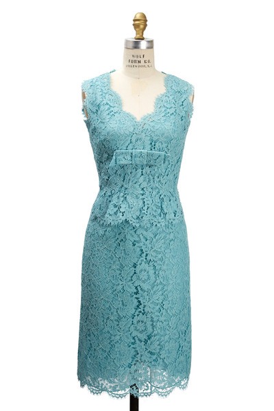 Valentino - Aqua Lace Bambolina Dress