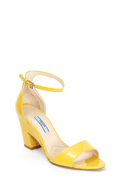 Prada - Yellow Patent Leather Sandal, 75mm