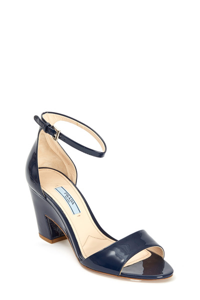 Prada - Royal Blue Patent Leather Sandal, 75mm