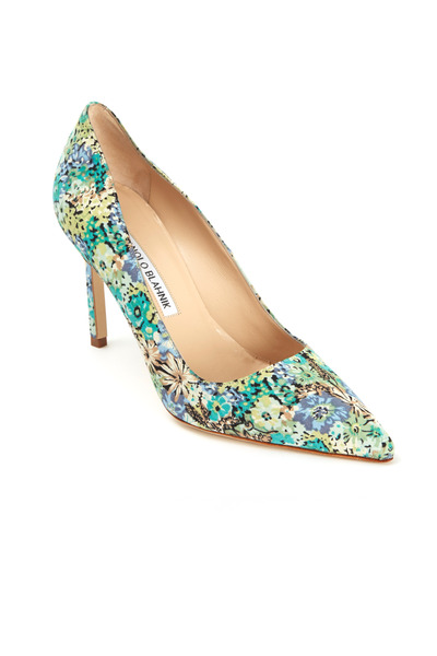 Manolo Blahnik - BB Floral Print Pumps 90mm