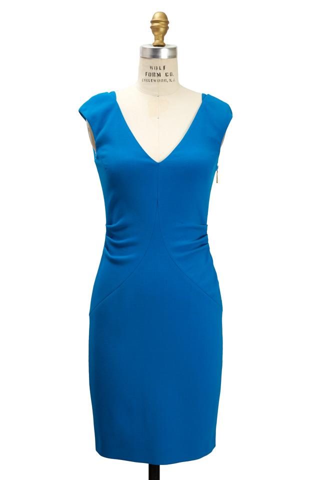 Blue Virgin Wool Dress