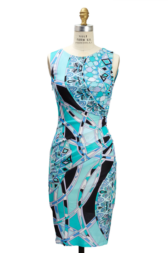 Blue Viscose Dress