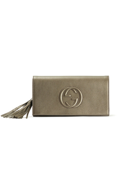 Gucci - Gunmetal East West Flap Clutch