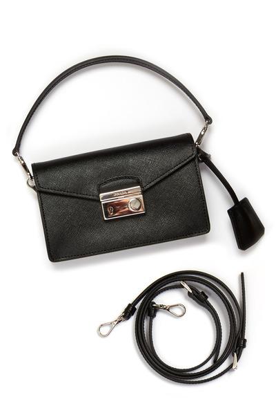 Prada - Black Saffiano Sport Mini Handbag