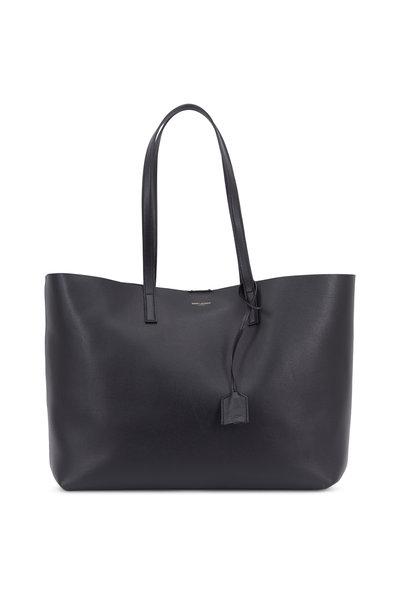 Saint Laurent - Black Leather Large Shopper Tote