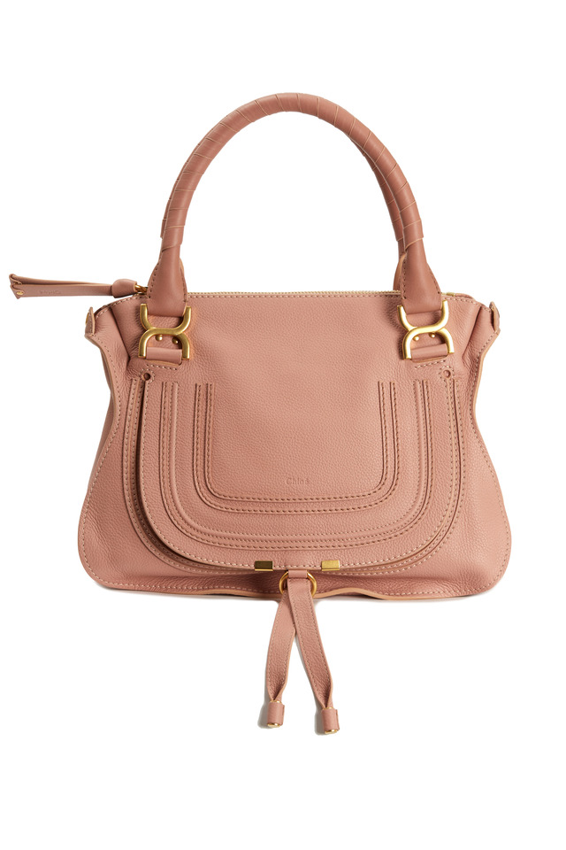 Marcie Light Pink Medium Flap Handbag