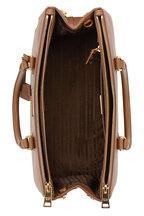 Prada - Brown Saffiano Cuir Medium Double Bag