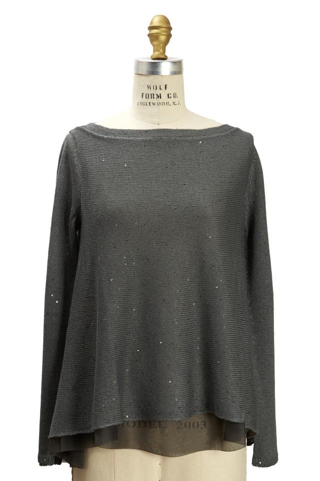 Army Cashmere & Silk Pailette Pullover