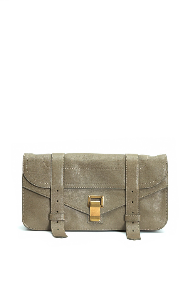 PS1 Pochette Gray Leather Satchel