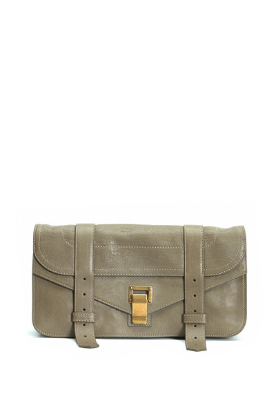 Proenza Schouler - PS1 Pochette Gray Leather Satchel