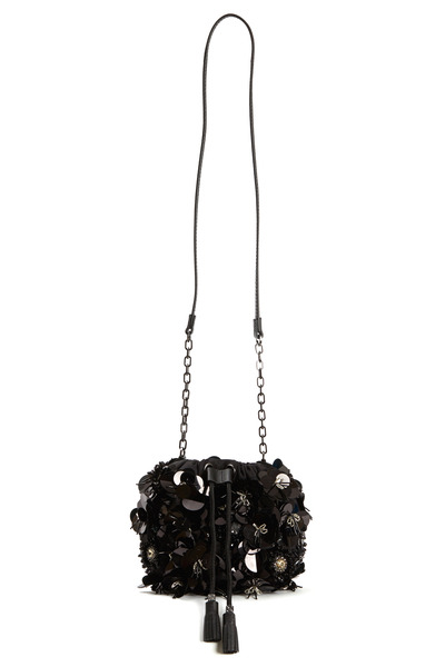 Tory Burch - Black Nylon Flower Cluster Mini Handbag