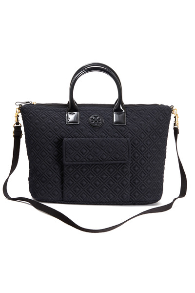 Tory Burch - Black Nylon Quilted Tote