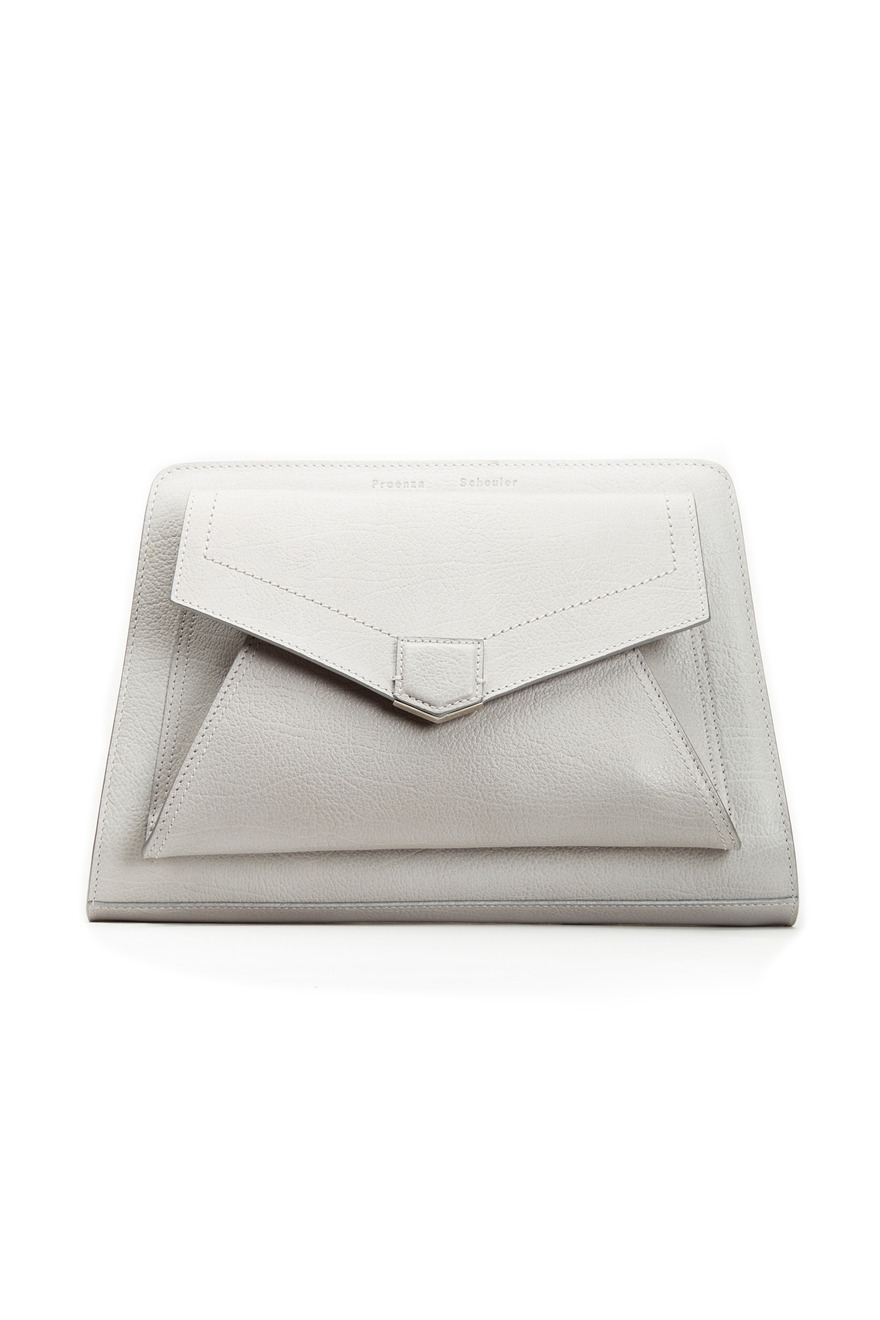 PS13 Gray Envelope Clutch