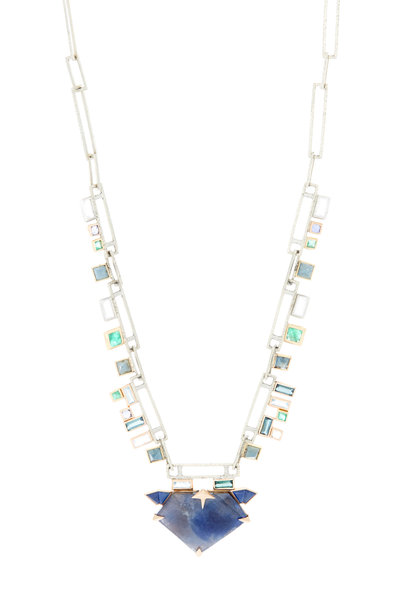 Nak Armstrong - Rose Gold Multiple Gemstone Pendant Necklace