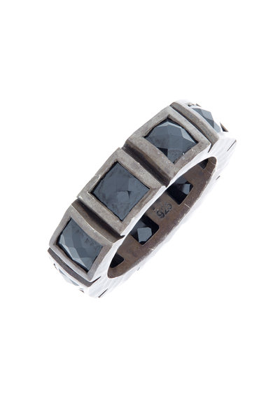 Nak Armstrong - Sterling Silver Black Spinel Band