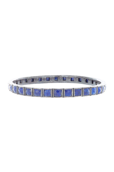 Nak Armstrong - Oxidized Sterling Silver Lapis Bangle