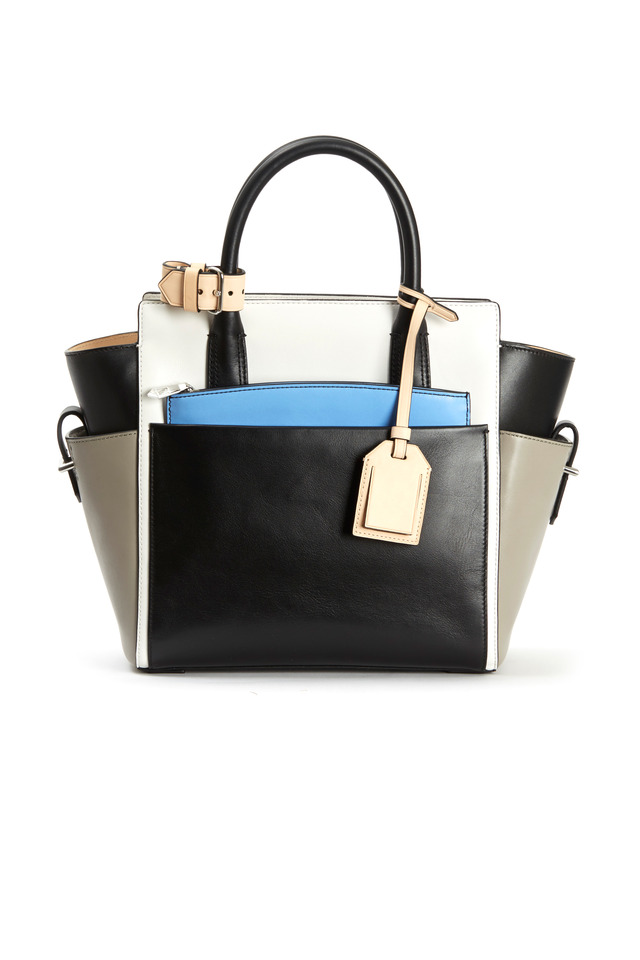 Black White & Ash Mini Atlantique Handbag