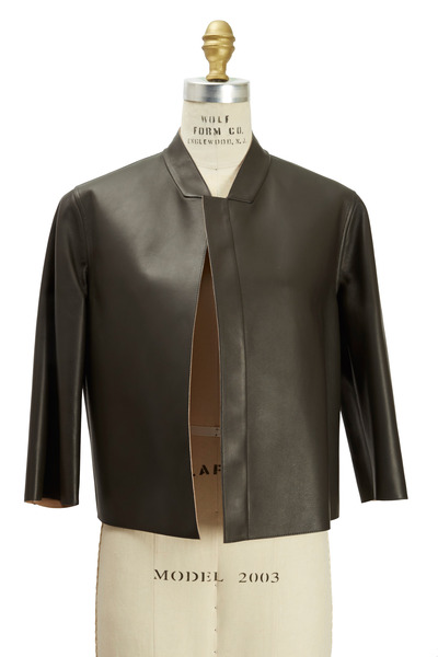 Brunello Cucinelli - Black & Biscotti Leather Reversible Jacket
