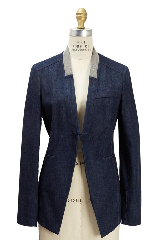 Denim Blue Monili Jacket