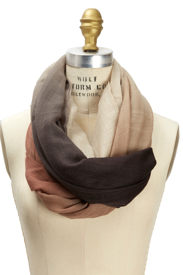 Brown & Grey Boiled Ombre Scarf