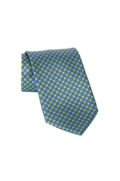 Ermenegildo Zegna - Green Geometric Silk Necktie