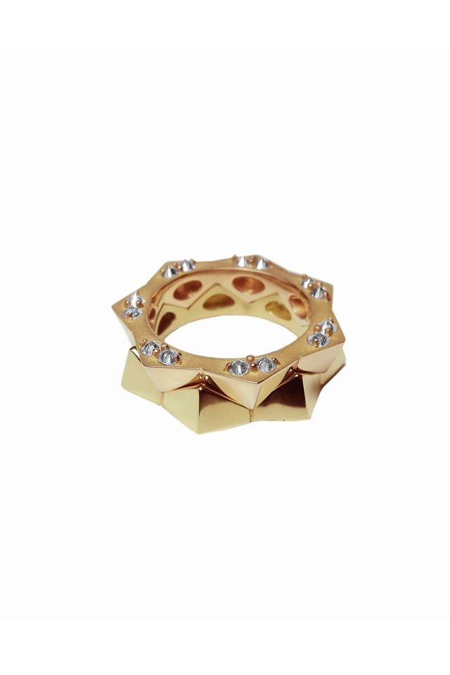 Brillante Yellow Gold Stack Ring