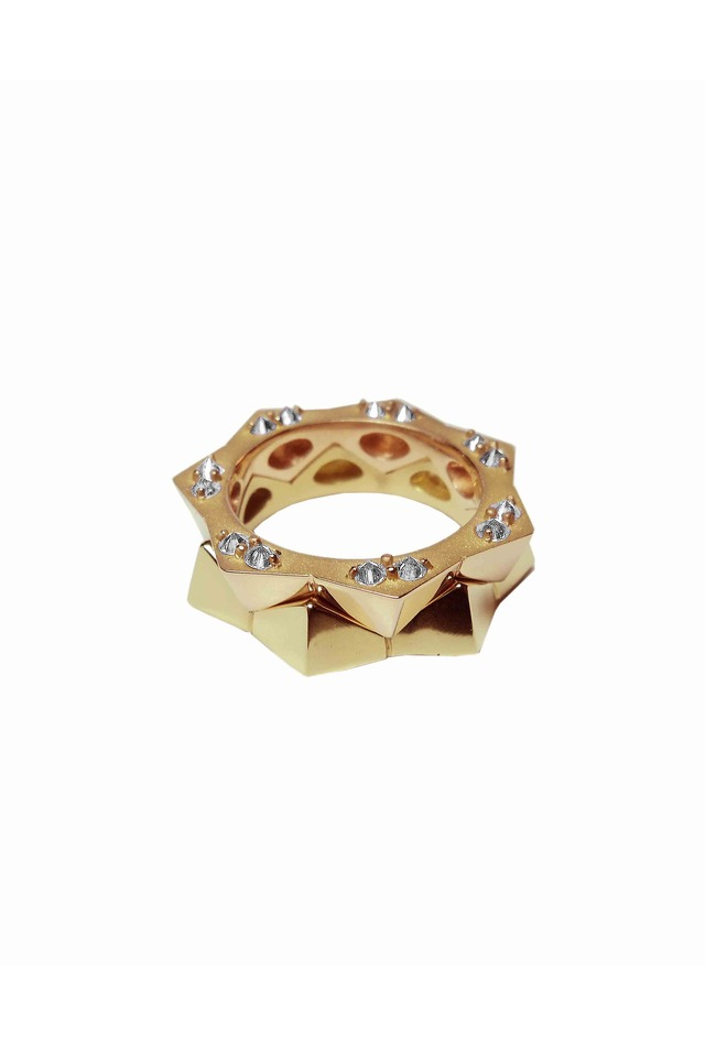 Brillante Rose Gold Stack Ring