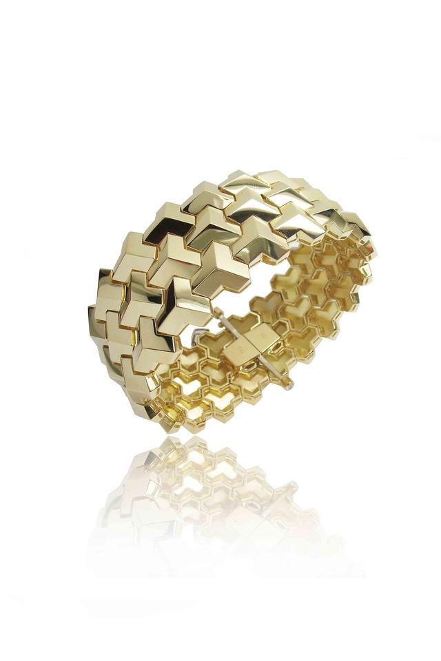 Wide Yellow Gold Bracelet