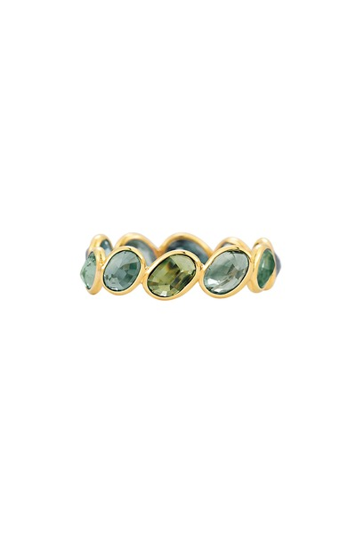 Paolo Costagli - Yellow Gold Green Sapphire Stack Ring