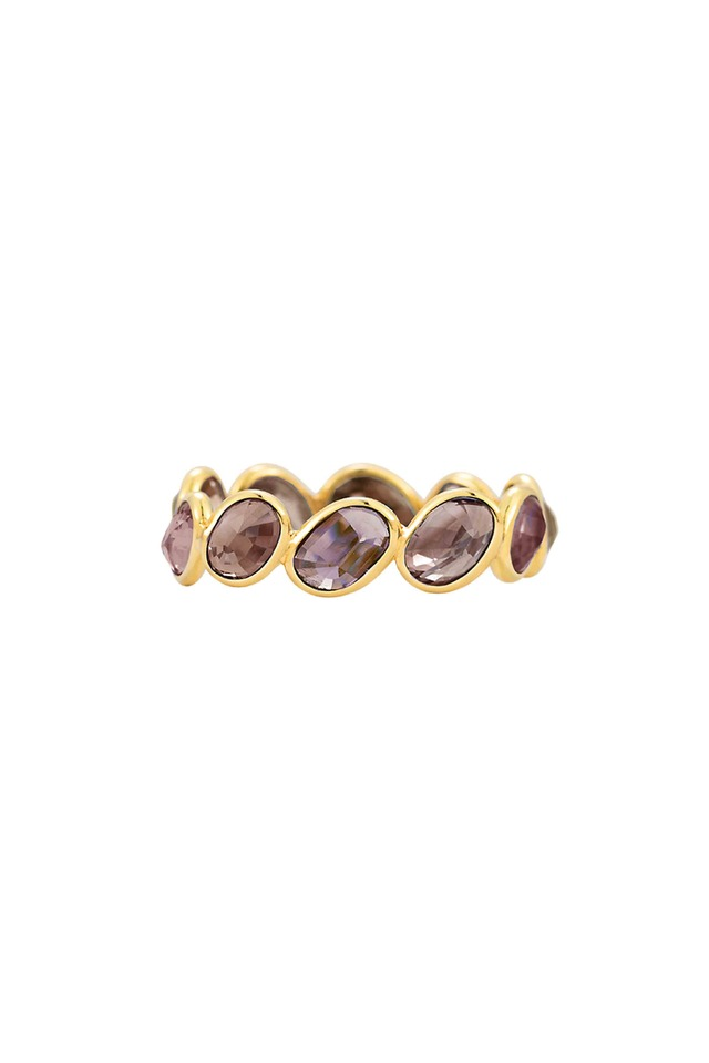 Gold Color-Changing Sapphire Stack Ring